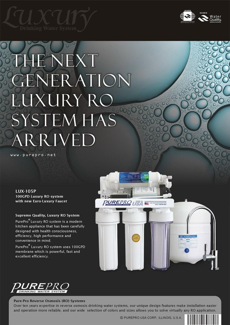 Purepro 174 Usa Reverse Osmosis Ro Water Filters Luxury Ro