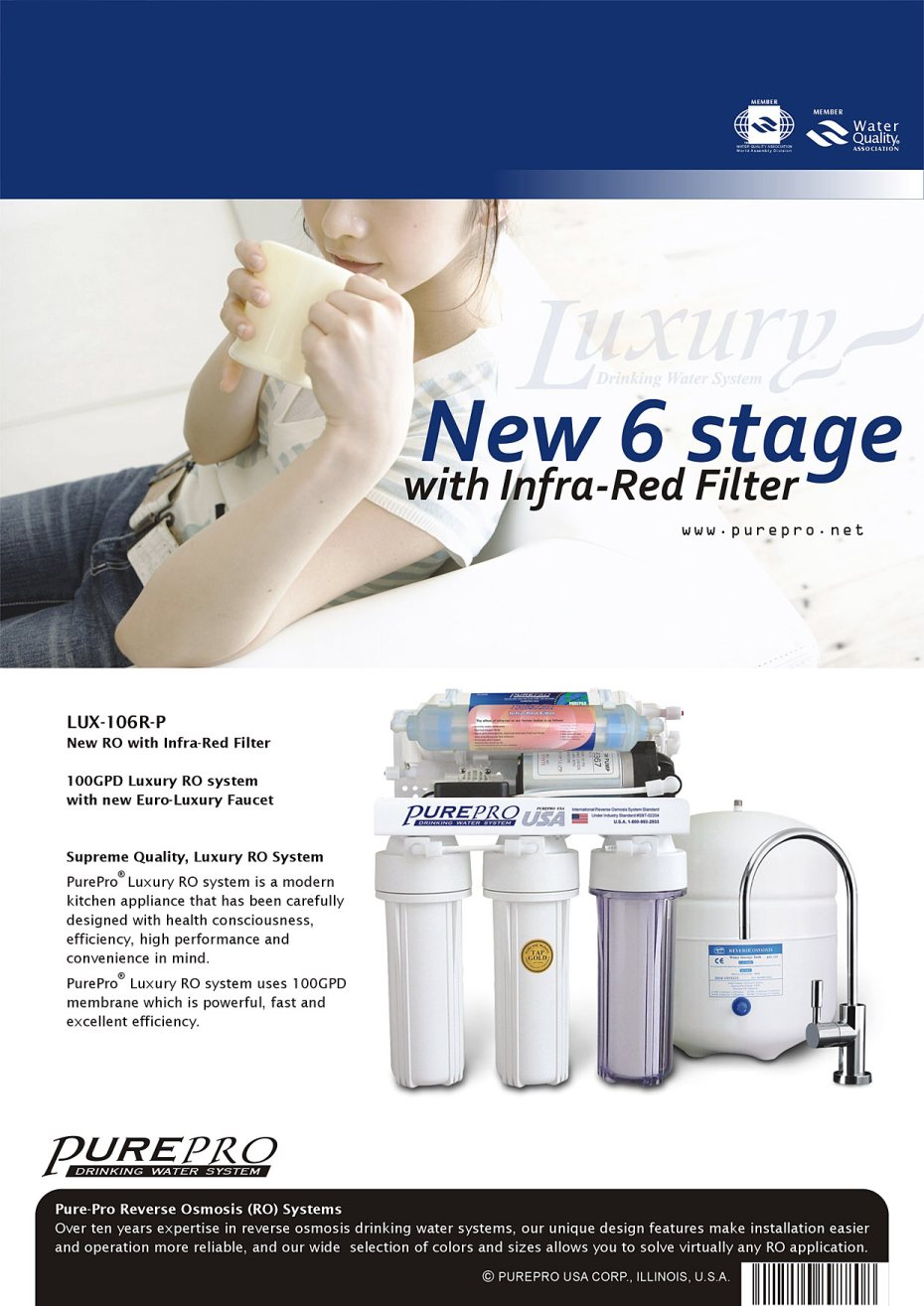 Purepro 174 Luxury Reverse Osmosis Water Filter Systems