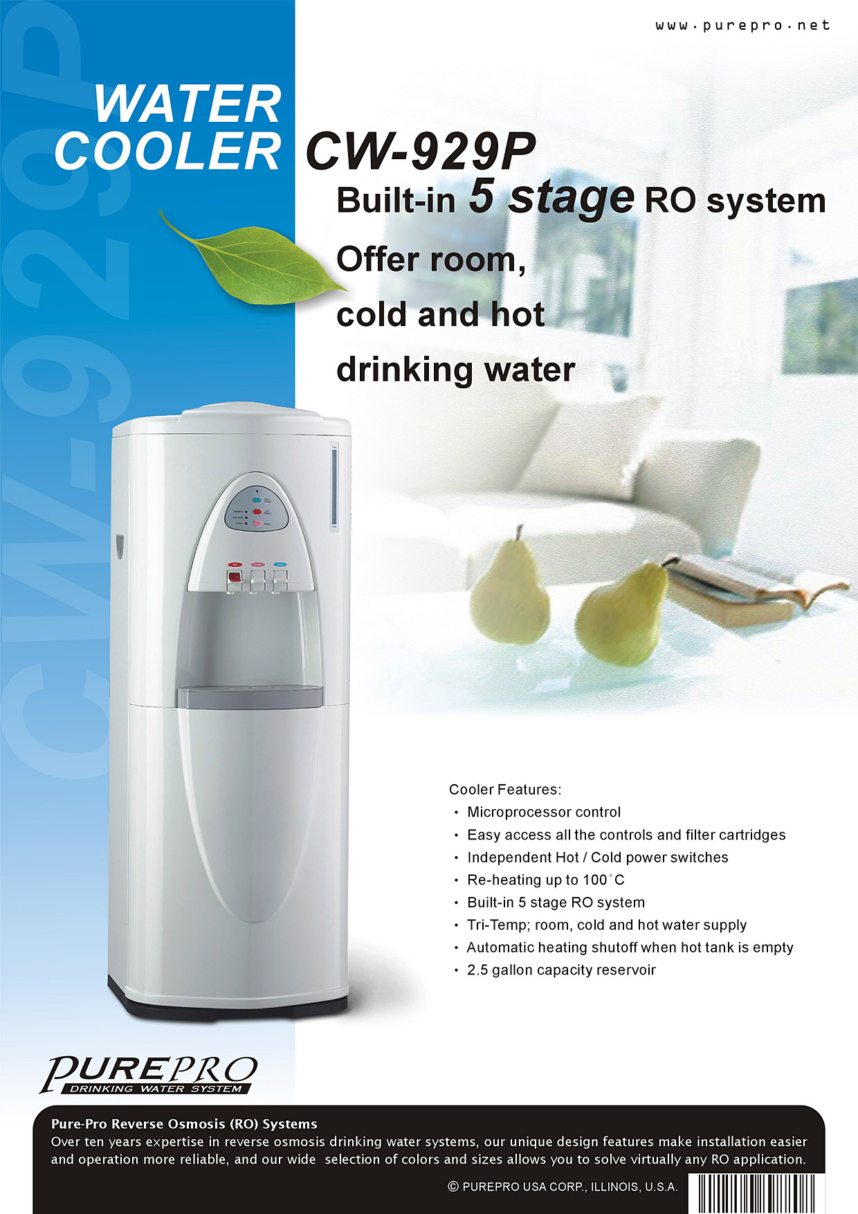 Purepro 174 Usa Reverse Osmosis Ro Water Filters